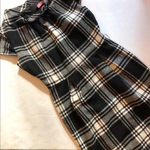 Eliza J plaid cowl neck sheath dress
